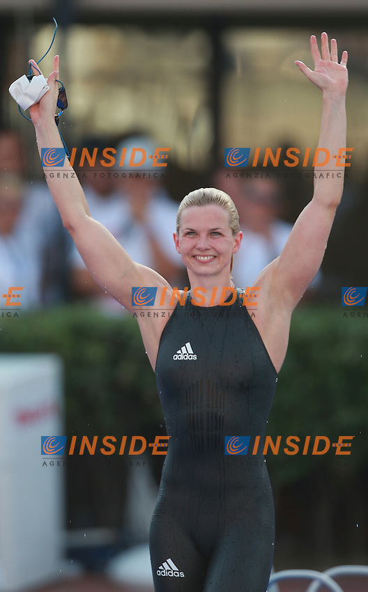 Roma 31st July 2009 - 13th Fina World Championships .From 17th to 2nd August 2009.Women's 100m Freestyle.Steffen Britta (GER) Gold Medal and new W.R..Roma2009.com/InsideFoto/SeaSee.com