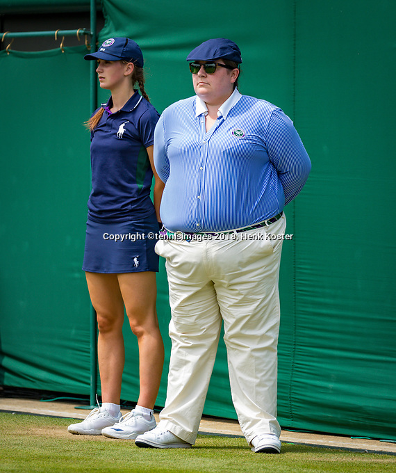 London, England, 5 th. July, 2018, Tennis,  Wimbledon, Womans doubles: linesman<br /> Photo: Henk Koster/tennisimages.com