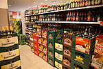 Fully stocked beer aisle at a Czech grocery store, Prague, Czech Republic, Europe