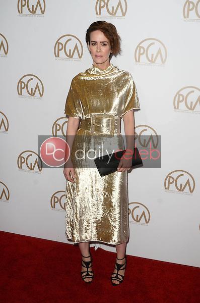 Sarah Paulson<br /> at the 2017 Producers Guild Awards, Beverly Hilton Hotel, Beverly Hills, CA 01-28-17<br /> David Edwards/DailyCeleb.com 818-249-4998