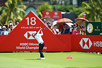 SINGAPORE - MARCH 03: Sung Hyun Park of South Korea reaction on the 18th tee during the final round of the HSBC Women's World Championship 2019 at Sentosa Golf Club - Tanjong Course, Singapore on March 03, 2019.<br /> .<br /> .<br /> .<br /> (Photo by: Naratip Golf Srisupab/SEALs Sports Images)<br /> .<br /> Any image use must include a mandatory credit line adjacent to the content which should read: Naratip Golf Srisupab/SEALs Sports Images
