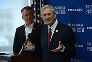 Washington, DC - May 16, 2016: U.S. Representative Rick Nolan (D-MN) holds a news conference at the National Press Club in the District of Columbia, May 16, 2016, to discuss the Stop Act (H.R. 4443) with Rep. David Jolly (R-FL). If passed, the Act would ban members of Congress from personally asking for money from donors.  (Photo by Don Baxter/Media Images International)