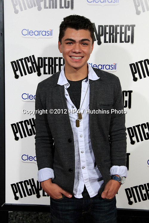 "LOS ANGELES - SEP 24:  Adam Irigoyen arrives at the ""Pitch Perfect'"" Premiere at ArcLight Cinemas on September 24, 2012 in Los Angeles, CA"