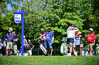 Holly Clyburn (ENG) watches her tee shot on 18 during Saturday's round 3 of the 2017 KPMG Women's PGA Championship, at Olympia Fields Country Club, Olympia Fields, Illinois. 7/1/2017.<br /> Picture: Golffile | Ken Murray<br /> <br /> <br /> All photo usage must carry mandatory copyright credit (&copy; Golffile | Ken Murray)