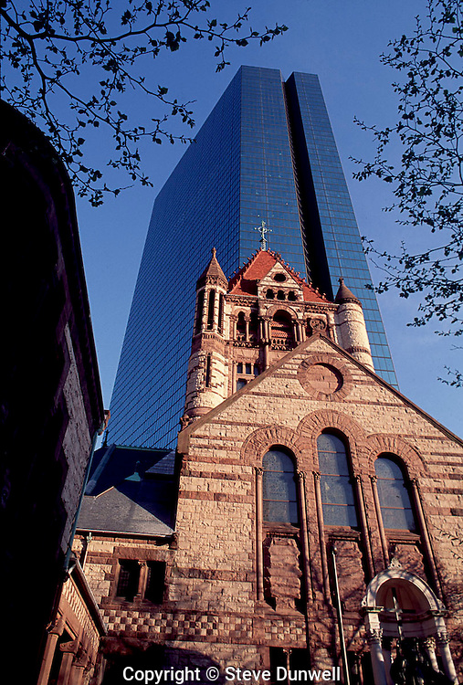 Trinity Church & Hancock Tower, Copley Square, Boston, MA H. H. Richardson