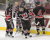 (Rob Rassey, Joe Santilli), NU ?, Dennis McCauley, (Chuck Tomes) - The Boston College Eagles defeated Northeastern University Huskies 5-3 on Saturday, November 19, 2005, at Kelley Rink in Conte Forum at Chestnut Hill, MA.