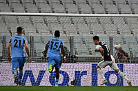 Calcio, Serie A: Juventus - Lazio, Allianz Stadium, July 20, 2020.<br /> Juventus' Cristiano Ronaldo (r) celebrates after scoring  during the Italian Serie A football match between Juventus and Lazio at the Allianz stadium in Turin, July 20, 2020.<br /> UPDATE IMAGES PRESS/Isabella Bonotto