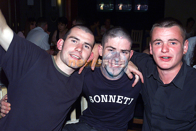 Jonny Sheridan,John McQuaid and Keith McKeever in The Star and Crecent ...Pic Newsfile