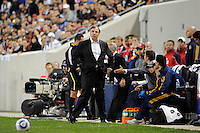 Los Angeles Galaxy head coach Bruce Arena. The New York Red Bulls defeated the Los Angeles Galaxy 2-0 during a Major League Soccer (MLS) match at Red Bull Arena in Harrison, NJ, on October 4, 2011.