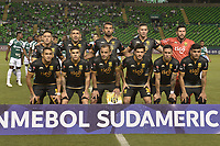 PALMIRA - COLOMBIA, 04-04-2019: Jugadores de Guarani posan para una foto previo al e partido por la primera ronda de la Copa CONMEBOL Sudamericana 2019 entre Deportivo Cali de Colombia y Club Guaraní de Paraguay jugado en el estadio Deportivo Cali de la ciudad de Palmira. / Players of Guarani pose to a photo prior match for the first round as part Copa CONMEBOL Sudamericana 2019 between Deportivo Cali of Colombia and Club Guarani of Paraguay played at Deportivo Cali stadium in Palmira city.  Photo: VizzorImage / Gabriel Aponte / Staff