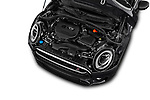 Car Stock 2017 MINI Cooper Clubman-S-ALL4 5 Door Wagon Engine  high angle detail view