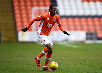 Blackpool's Nathan Delfouneso in action<br /> <br /> Photographer Richard Martin-Roberts/CameraSport<br /> <br /> The EFL Sky Bet League One - Blackpool v Walsall - Saturday 10th February 2018 - Bloomfield Road - Blackpool<br /> <br /> World Copyright &not;&copy; 2018 CameraSport. All rights reserved. 43 Linden Ave. Countesthorpe. Leicester. England. LE8 5PG - Tel: +44 (0) 116 277 4147 - admin@camerasport.com - www.camerasport.com