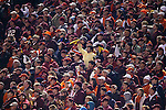 18 November 2006: A Wake Forest, surrounded by Virginia Tech fans, waives a yellow towel. The Virginia Tech Hokies defeated the Wake Forest University Demon Deacons 27-6 at Groves Stadium in Winston-Salem, North Carolina in an Atlantic Coast Conference NCAA Division I College Football game.