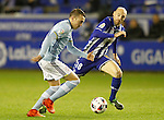 Deportivo Alaves' Gaizka Toquero (r) and Celta de Vigo's Iago Aspas during Spanish Kings Cup semifinal 2nd leg match. February 08,2017. (ALTERPHOTOS/Acero)