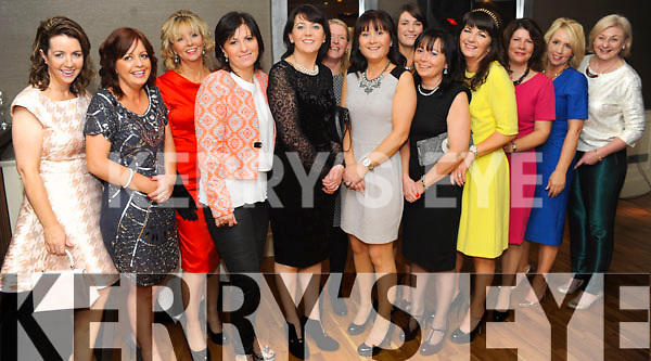 FAB FORTY: Nora O'Sullivan, Glenbeigh (6th right) who celebrated her 40th birthday with her family and friends in the Brook Lane Hotel, Kenmare, on Friday.