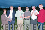 Winnins of 1st prize at the the Duagh GAA Golf Classis held at Ballybunion Golf Club on twentieth on April.  Prizes were presented on Monday night at Duagh GAA Club pictured from l-r are   were Mary Ahern (club secretary) Noel Kneafsey, winner   John Culane, winner  Martin Leane (club chairman),  Dave Madigan winner and John Dillon (Duagh GAA)..   Copyright Kerry's Eye 2008