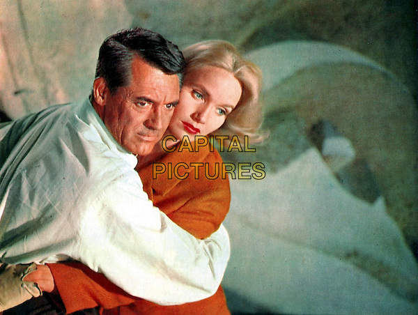 Cary Grant &amp; Eva Marie Saint<br /> in North by Northwest (1959) <br /> *Filmstill - Editorial Use Only*<br /> CAP/NFS<br /> Image supplied by Capital Pictures