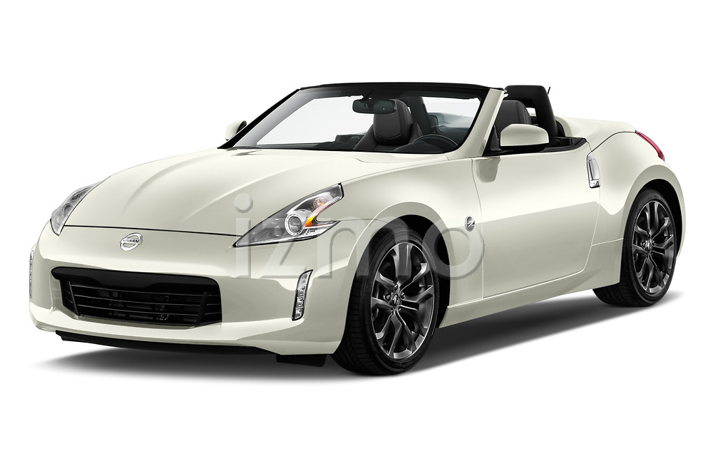 2019 Nissan 370Z  Touring  2 Door Convertible angular front stock photos of front three quarter view