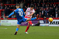 Jonathan Smith of Stevenage with a shot on goal during Stevenage vs Notts County, Sky Bet EFL League 2 Football at the Lamex Stadium on 11th November 2017