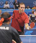 November 14 2011 - Guadalajara, Mexico: Martin Pelletier competing in Table Tennis at the 2011 Parapan American Games in Guadalajara, Mexico.  Photos: Matthew Murnaghan/Canadian Paralympic Committee