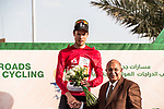 Phil Bauhaus (GER) Bahrain-Mclaren wins Stage 3 and also takes over the Red Jersey of the Saudi Tour 2020 running 119km from King Saud University to Al Bujairi, Saudi Arabia. 6th February 2020. <br /> Picture: ASO/Kåre Dehlie Thorstad | Cyclefile<br /> All photos usage must carry mandatory copyright credit (© Cyclefile | ASO/Kåre Dehlie Thorstad)
