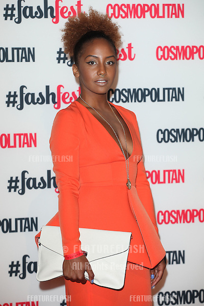 Jade Avia arriving for the Cosmopolitan Fashfest, at Battersea Evolution, London. 18/09/2014 Picture by: Alexandra Glen / Featureflash
