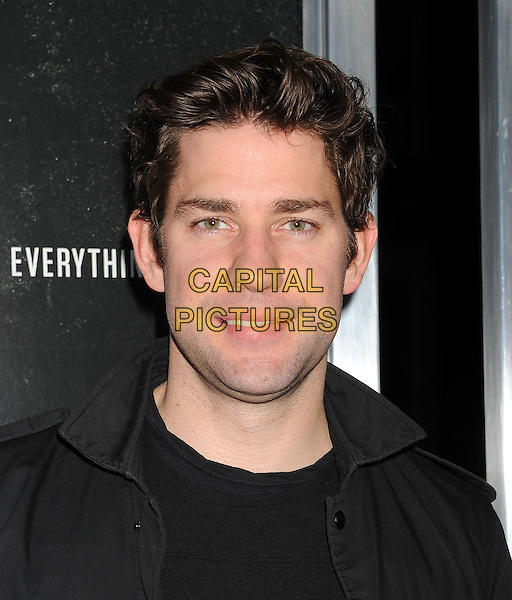 John Krasinski<br /> Premiere of &quot;Captain Phillips&quot; held at the Academy of Motion Picture Arts and Sciences, Beverly Hills, California, USA.<br /> September 30th, 2013<br /> headshot portrait black jacket <br /> CAP/ROT/TM<br /> &copy;Tony Michaels/Roth Stock/Capital Pictures