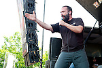 Neil Fallon of Clutch performs during the 2013 Rock On The Range festival at Columbus Crew Stadium in Columbus, Ohio.