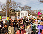 February 11, 2017. Raleigh, North Carolina.<br /> <br /> Thousands marched through downtown Raleigh for the 11th annual HKONJ People's Assembly. <br /> <br /> Thousands gathered in downtown Raleigh for the annual HKONJ People's Assembly, a civil rights march tied to the Moral Monday movement. Supporters from around the state gathered to march and speak out against nationwide attacks on civil rights and the Trump administration.<br /> <br /> Jeremy M. Lange for The New York Times