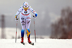 Emma Wiken in action during the Women 5 km Classic Individual in Val Di Fiemme<br /> <br /> &copy; Pierre Teyssot