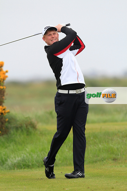 Eanna Griffin (Waterford) on the 12th tee during the Round 1 of The Irish Amateur Open Championship in The Royal Dublin Golf Club on Thursday 8th May 2014.<br /> Picture:  Thos Caffrey / www.golffile.ie