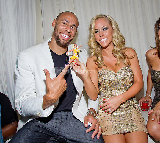 Hank Baskett and Kendra Wilkinson-Baskett  pictured as Kendra Wilkinson-Baskett celebrates her 26th birthday at PURE NIGHTCLUB at Caesars Palace in Las Vegas, NV on June 11, 2011. © Erik Kabik / MediaPunch.***HOUSE COVERAGE***