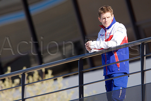 28.03.2015.  Le Castellet, France. World Endurance Championship Prologue Day 2. Toyota Racing Toyota driver Anthony Davidson watches proceedings.