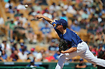 Los Angeles Dodgers' Trevor Oaks pitches against the Arizona Diamondbacks in a spring training game in Glendale, Ariz., on Friday, March 24, 2017.<br /> Photo by Cathleen Allison/Nevada Photo Source