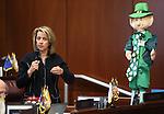 Nevada Sen. Barbara Cegavske, R-Las Vegas, works on the Senate floor at the Legislative Building in Carson City, Nev., on Tuesday, March 12, 2013..Photo by Cathleen Allison