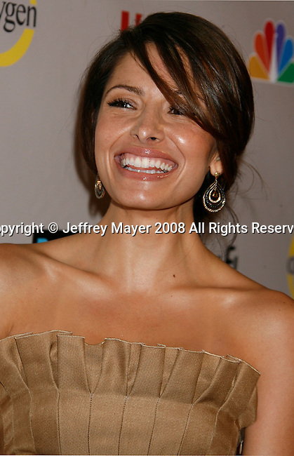 Actress Sarah Shahi arrives at the NBC Universal 2008 Press Tour All-Star Party at The Beverly Hilton Hotel on July 20, 2008 in Beverly Hills, California.