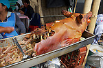 Cooked Pig With Tomato In Mouth, Otovalo Market