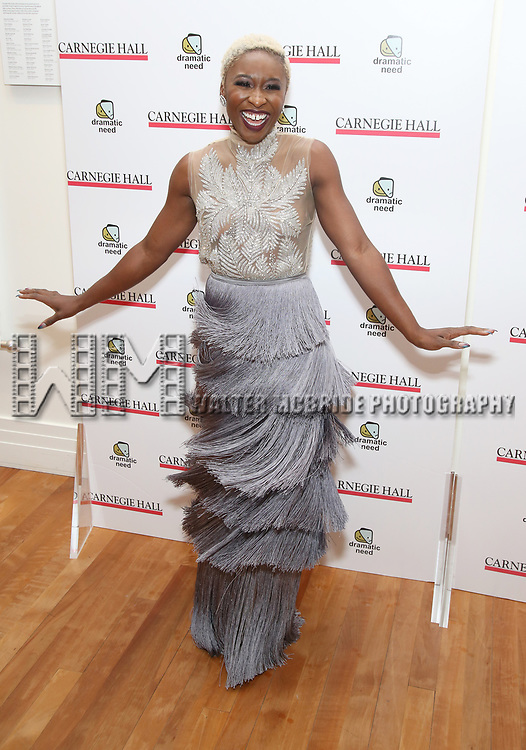Cynthia Erivo attends The Children's Monologues at Carnegie Hall on November 13, 2017 in New York City.