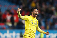 Costa of Villarreal during La Liga match between Atletico de Madrid and Villarreal at Vicente Calderon stadium in Madrid, Spain. December 14, 2014. (ALTERPHOTOS/Caro Marin) /NortePhoto