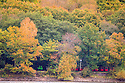 &sect;27/10/16<br /> <br /> Surrounded by stunning autumn colour, a narrow-gauge steam train makes its way along the Rudyard Lake Steam Railway along the bank of Rudyard Lake near Leek, Staffordshire.<br /> <br /> All Rights Reserved: F Stop Press Ltd. +44(0)1773 550665   www.fstoppress.com