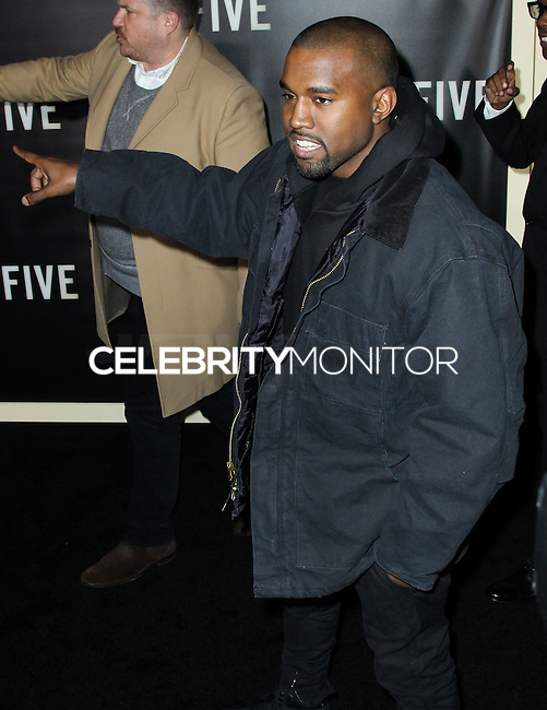 NEW YORK CITY, NY, USA - DECEMBER 03: Kanye West arrives at the New York Premiere Of 'Top Five' held at the Ziegfeld Theatre on December 3, 2014 in New York City, New York, United States. (Photo by Celebrity Monitor)