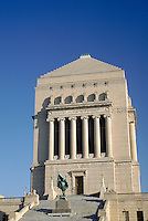 Indiana War Memorial Shrine building in downtown Indianapolis, Indiana. Indianapolis Indiana.