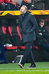 08.11.2018, BayArena, Leverkusen, Europaleque, Vorrunde, GER, UEFA EL, Bayer 04 Leverkusen (GER) vs. FC Zuerich (SUI),<br />  <br /> DFL regulations prohibit any use of photographs as image sequences and/or quasi-video<br /> <br /> im Bild / picture shows: <br /> Ludovic Magnin Trainer / Headcoach (FC Zuerich), regt sich heftig auf, Gestik, Mimik,   <br /> <br /> Foto &copy; nordphoto / Meuter<br /> <br /> <br /> <br /> Foto &copy; nordphoto / Meuter