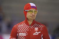 SCHAATSEN: CALGARY: Olympic Oval, 08-11-2013, Essent ISU World Cup, 500m, Maciej Biega (POL), ©foto Martin de Jong