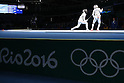 (L-R) Shiho Nishioka (JPN), Nam Hyunhee (KOR), <br /> AUGUST 10, 2016 - Fencing : <br /> Women's Foil Individual Round of 32 <br /> at Carioca Arena 3 <br /> during the Rio 2016 Olympic Games in Rio de Janeiro, Brazil. <br /> (Photo by Yusuke Nakanishi/AFLO SPORT)