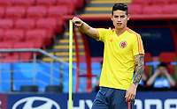KAZAN - RUSIA, 23-06-2018: James RODRIGUEZ de Colombia, durante entrenamiento en Kazan Arena previo al encuentro del Grupo previo al encuentro del grupo H  con Polonia como parte de la Copa Mundo FIFA 2018 Rusia. / James RODRIGUEZ player of Colombia during training session in KazanArena prior the group H match with Poland as part of the 2018 FIFA World Cup Russia. Photo: VizzorImage / Julian Medina / Cont