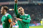 08.03.2019, Weser Stadion, Bremen, GER, 1.FBL, Werder Bremen vs FC Schalke 04, <br /> <br /> DFL REGULATIONS PROHIBIT ANY USE OF PHOTOGRAPHS AS IMAGE SEQUENCES AND/OR QUASI-VIDEO.<br /> <br />  im Bild<br /> <br /> jubel Milot Rashica (Werder Bremen #11) zum 3:1 mit Max Kruse (Werder Bremen #10) <br /> <br /> Foto &copy; nordphoto / Kokenge