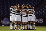 09 December 2011: UNCC's starters huddle before the gme. The Creighton University Bluejays played the University of North Carolina Charlotte 49ers to a 0-0 overtime tie, the 49ers won the penalty shootout 4-1 to advance at Regions Park in Hoover, Alabama in an NCAA Division I Men's Soccer College Cup semifinal game.
