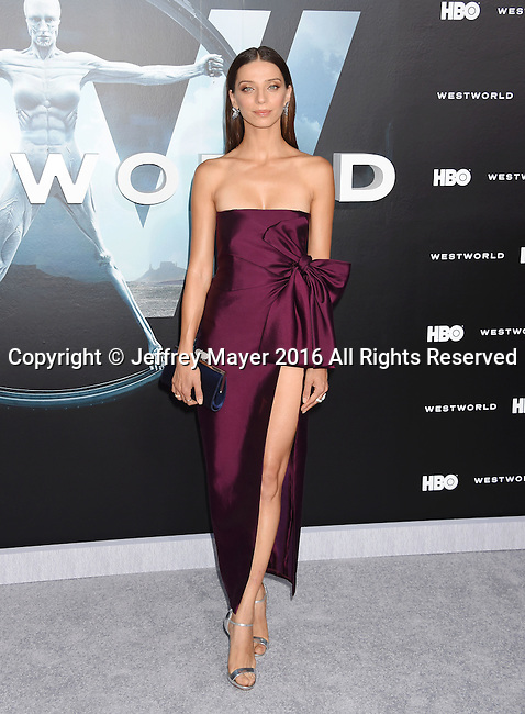 HOLLYWOOD, CA - SEPTEMBER 28: Actress Angela Sarafyan attends the premiere of HBO's 'Westworld' at TCL Chinese Theater on September 28, 2016 in Hollywood, California.