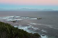 Long exposure False Bay scene.